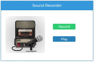 NodeRun Space - Simple Sound Recorder