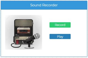 NodeRun Space - Simple Sound Recorder